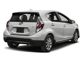 Classic Silver Metallic 2017 Toyota Prius c Pictures Prius c Liftback 5D c Four I4 Hybrid photos rear view