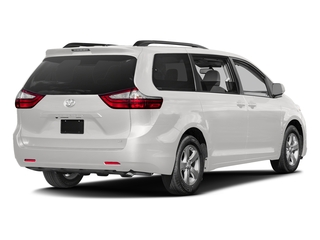 Super White 2017 Toyota Sienna Pictures Sienna Wagon 5D LE AWD V6 photos rear view