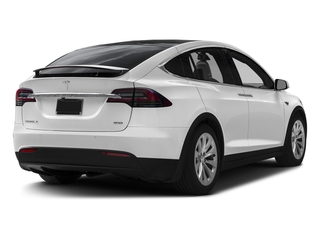 Pearl White Multi-Coat 2017 Tesla Motors Model X Pictures Model X Utility 4D 90 kWh AWD Electric photos rear view