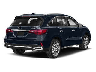 Fathom Blue Pearl 2018 Acura MDX Pictures MDX FWD w/Advance/Entertainment Pkg photos rear view