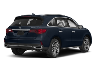 Fathom Blue Pearl 2018 Acura MDX Pictures MDX Utility 4D Advance DVD AWD photos rear view