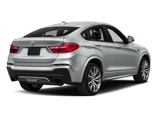 Glacier Silver Metallic 2018 BMW X4 Pictures X4 M40i Sports Activity Coupe photos rear view