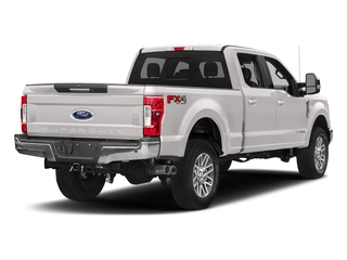 White Platinum Metallic Tri-Coat 2018 Ford Super Duty F-350 SRW Pictures Super Duty F-350 SRW LARIAT 4WD Crew Cab 8' Box photos rear view