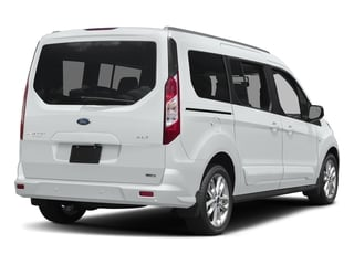Frozen White 2018 Ford Transit Connect Wagon Pictures Transit Connect Wagon XLT SWB w/Rear Symmetrical Doors photos rear view