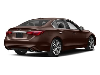 Mocha Almond 2018 INFINITI Q50 Pictures Q50 Hybrid LUXE RWD photos rear view