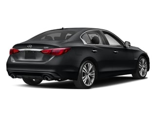 Midnight Black 2018 INFINITI Q50 Pictures Q50 Hybrid LUXE RWD photos rear view
