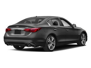Graphite Shadow 2018 INFINITI Q50 Pictures Q50 Hybrid LUXE RWD photos rear view