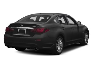 Graphite Shadow 2018 INFINITI Q70 Pictures Q70 Hybrid LUXE RWD photos rear view