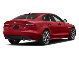Caldera Red 2018 Jaguar XE Pictures XE 25t R-Sport AWD photos rear view