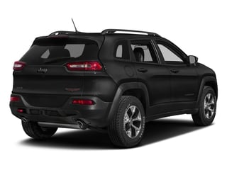 Diamond Black Crystal Pearlcoat 2018 Jeep Cherokee Pictures Cherokee Utility 4D Trailhawk 4WD photos rear view