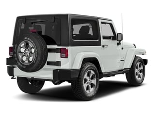 Bright White Clearcoat 2018 Jeep Wrangler JK Pictures Wrangler JK Utility 2D Sahara 4WD photos rear view