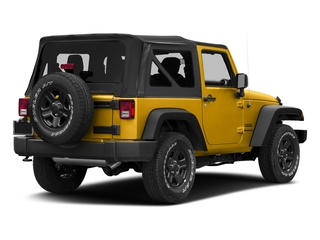 Baja Yellow Clearcoat 2018 Jeep Wrangler JK Pictures Wrangler JK Utility 2D Sport 4WD photos rear view