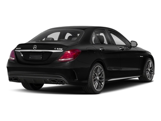 Obsidian Black Metallic 2018 Mercedes-Benz C-Class Pictures C-Class AMG C 63 S Sedan photos rear view