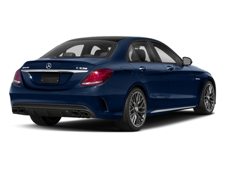 Brilliant Blue Metallic 2018 Mercedes-Benz C-Class Pictures C-Class AMG C 63 S Sedan photos rear view