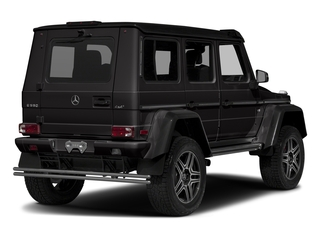 designo Platinum Black Metallic 2018 Mercedes-Benz G-Class Pictures G-Class G 550 4x4 Squared SUV photos rear view