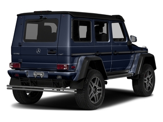 designo Manufaktur Midnight Blue 2018 Mercedes-Benz G-Class Pictures G-Class G 550 4x4 Squared SUV photos rear view