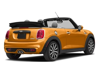 Volcanic Orange 2018 MINI Convertible Pictures Convertible Cooper S FWD photos rear view