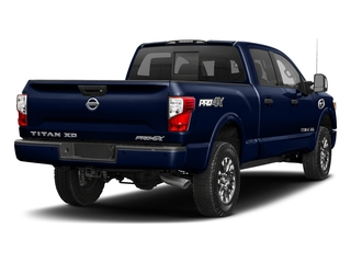 Deep Blue Pearl 2018 Nissan Titan XD Pictures Titan XD Crew Cab PRO-4X 4WD photos rear view
