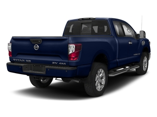 Deep Blue Pearl 2018 Nissan Titan XD Pictures Titan XD 4x4 Gas King Cab PRO-4X photos rear view
