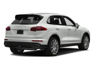 White 2018 Porsche Cayenne Pictures Cayenne Utility 4D AWD V8 Turbo photos rear view