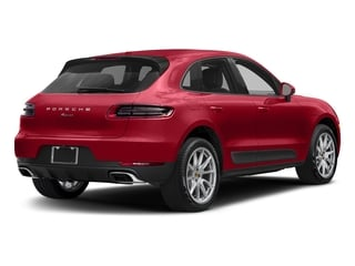 Carmine Red 2018 Porsche Macan Pictures Macan AWD photos rear view