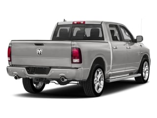 Bright Silver Metallic Clearcoat 2018 Ram Truck 1500 Pictures 1500 Night 4x4 Crew Cab 6'4 Box *Ltd Avail* photos rear view
