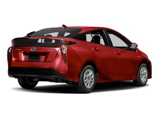 Hypersonic Red 2018 Toyota Prius Pictures Prius Liftback 5D Four I4 Hybrid photos rear view
