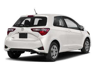 Super White 2018 Toyota Yaris Pictures Yaris Hatchback 3D LE I4 photos rear view