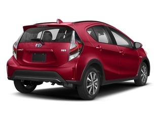 Absolutely Red 2018 Toyota Prius c Pictures Prius c Liftback 5D c One I4 Hybrid photos rear view