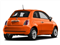 Spitfire Orange 2016 FIAT 500 Pictures 500 Hatchback 3D Lounge I4 photos rear view