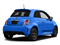 Laser Blu (Bright Met. Blue) 2016 FIAT 500 Pictures 500 Hatchback 3D I4 Turbo photos rear view