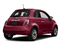 Rosso (Red) 2017 FIAT 500 Pictures 500 Pop Hatch photos rear view