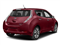 Coulis Red 2017 Nissan LEAF Pictures LEAF SV Hatchback photos rear view