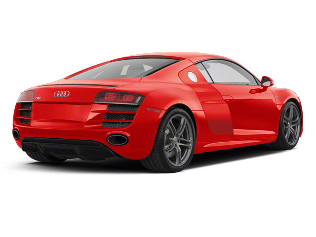 Brilliant Red With Brilliant Red Sideblades 2010 Audi R8 Pictures R8 2 Door Coupe Quattro 5.2l (manual) photos rear view