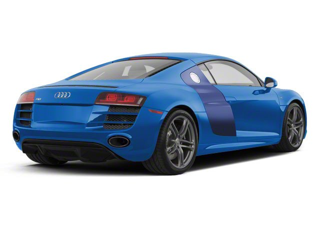 Sepang Blue Pearl With Mugello Blue Sideblades 2010 Audi R8 Pictures R8 2 Door Coupe Quattro 5.2l (manual) photos rear view