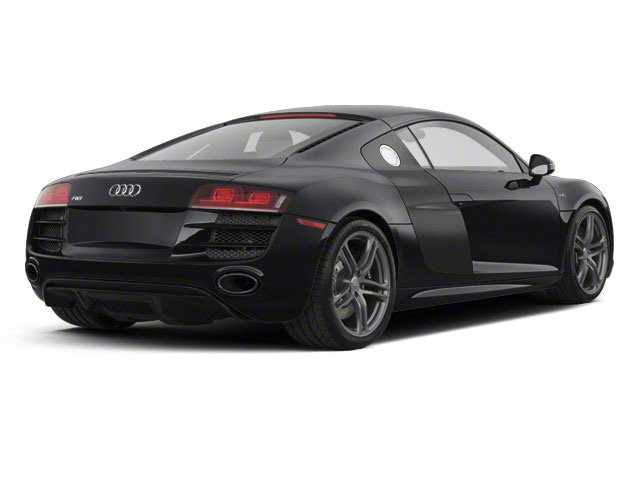 Phantom Black Pearl With Lava Gray Sideblades 2010 Audi R8 Pictures R8 2 Door Coupe Quattro 5.2l (manual) photos rear view
