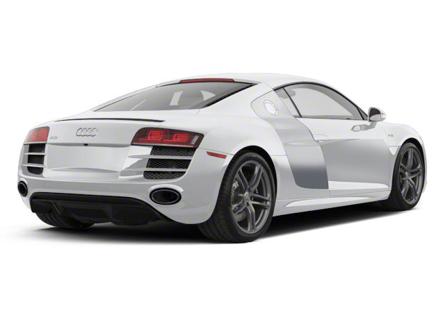 Ice Silver Metallic With Apollo Silver Sideblades 2010 Audi R8 Pictures R8 2 Door Coupe Quattro 5.2l (manual) photos rear view