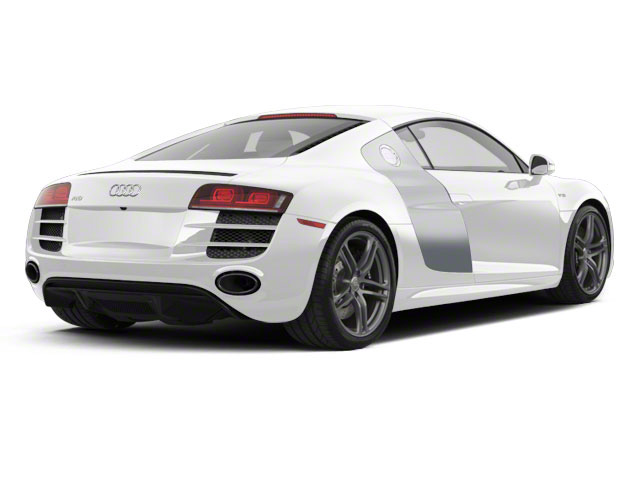 Ibis White With Ice Silver Sideblades 2010 Audi R8 Pictures R8 2 Door Coupe Quattro 5.2l (manual) photos rear view