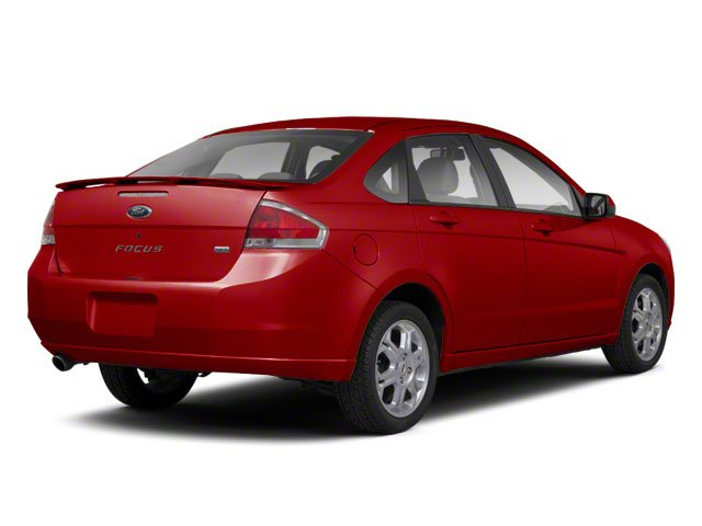 Sangria Red Metallic 2010 Ford Focus Pictures Focus Sedan 4D SE photos rear view