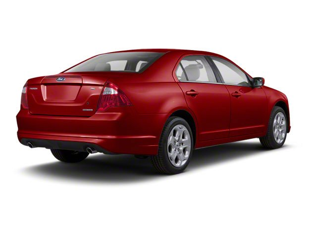 Sangria Red Metallic 2010 Ford Fusion Pictures Fusion Sedan 4D SEL AWD photos rear view