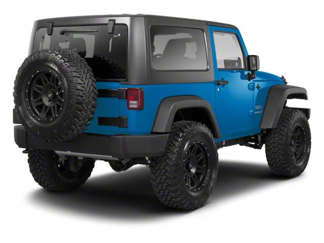 Surf Blue Pearl 2010 Jeep Wrangler Pictures Wrangler Utility 2D Sport 4WD photos rear view
