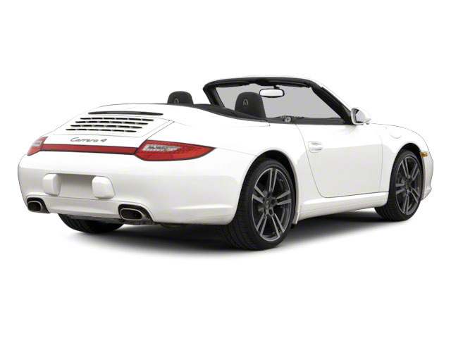 Carrara White 2010 Porsche 911 Pictures 911 Cabriolet 2D Turbo AWD photos rear view