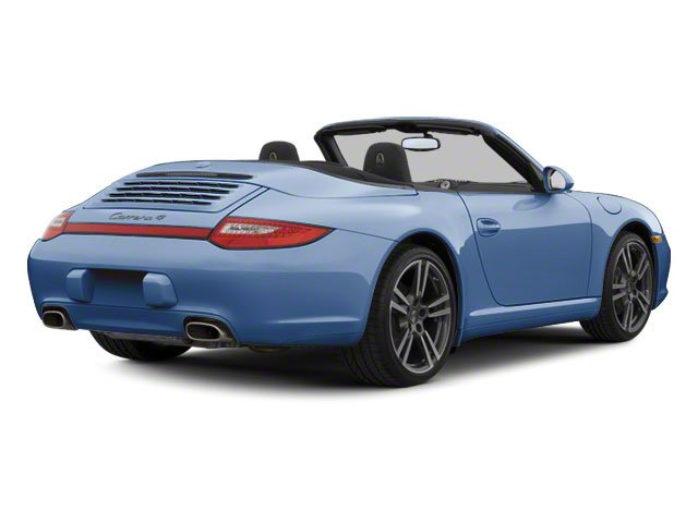 Aqua Blue Metallic 2010 Porsche 911 Pictures 911 Cabriolet 2D Turbo AWD photos rear view