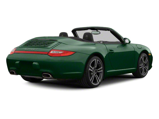 Malachite Green Metallic 2010 Porsche 911 Pictures 911 Cabriolet 2D Turbo AWD photos rear view