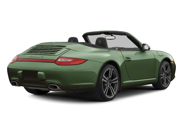 Porsche Racing Green Metallic 2010 Porsche 911 Pictures 911 Cabriolet 2D Turbo AWD photos rear view