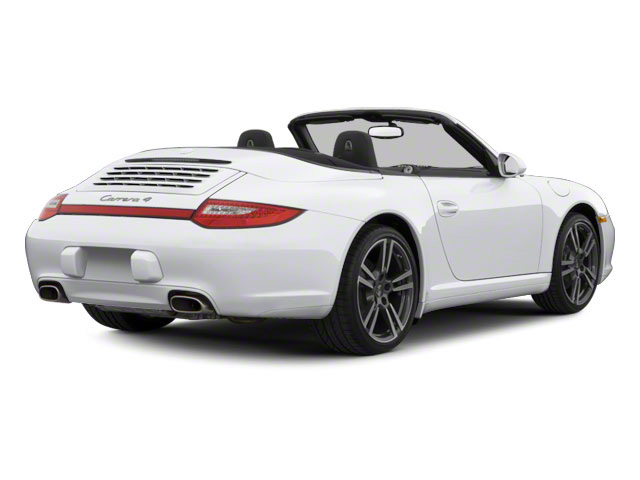 Arctic Silver Metallic 2010 Porsche 911 Pictures 911 Cabriolet 2D 4 AWD photos rear view