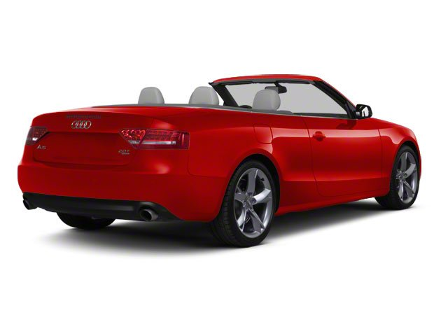Brilliant Red 2011 Audi A5 Pictures A5 Convertible 2D Prestige photos rear view