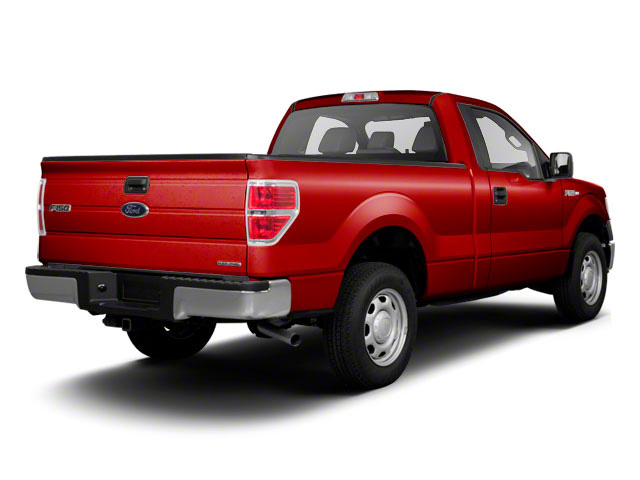 Vermillion Red 2011 Ford F-150 Pictures F-150 Regular Cab XLT 2WD photos rear view