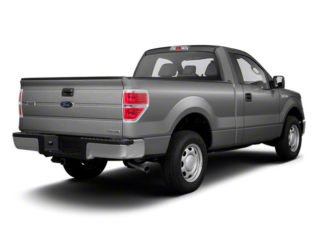 Ingot Silver Metallic 2011 Ford F-150 Pictures F-150 Regular Cab XLT 2WD photos rear view