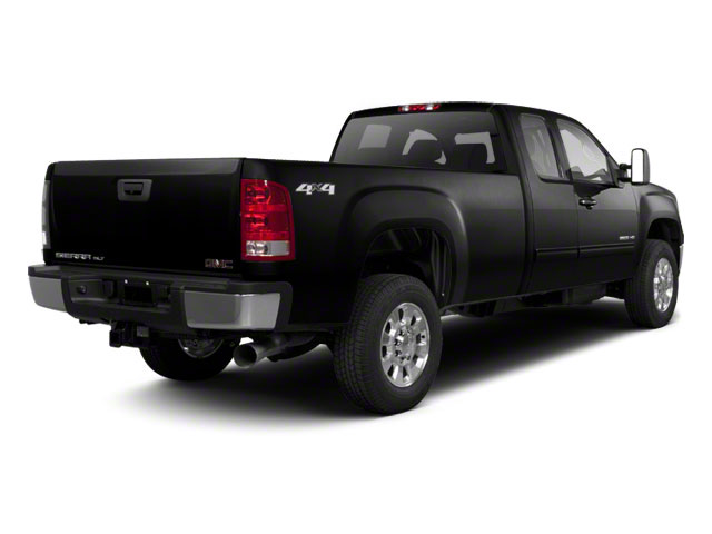 Onyx Black 2011 GMC Sierra 2500HD Pictures Sierra 2500HD Extended Cab SLE 4WD photos rear view